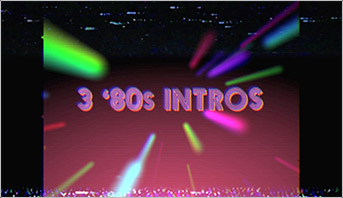 Retro 80s funky lasers title animation made in After Effects