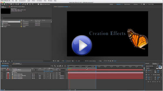 Butterfly Tutorial for After Effects