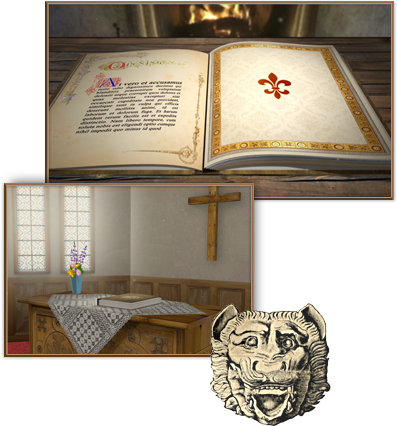 Pictures of the custom 3D storybook and custom bible for After Effects