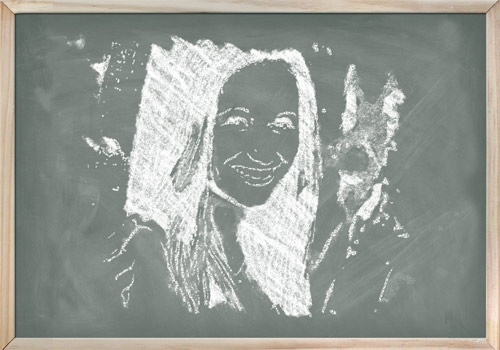 example of chalk drawing effect for footage