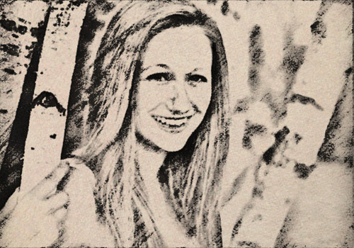example of Charcoal Drawing effect for footage