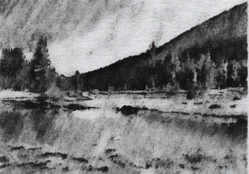 example of charcoal pencil drawing effect for video