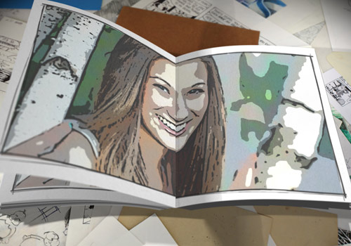 example of 3d flip book effect for After Effects
