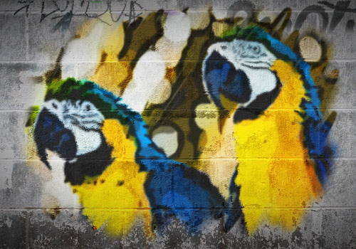 example of graffiti animation effect for After Effects