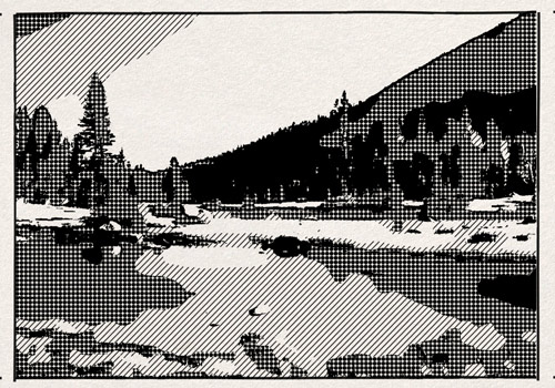 example of Halftone effect for After Effects