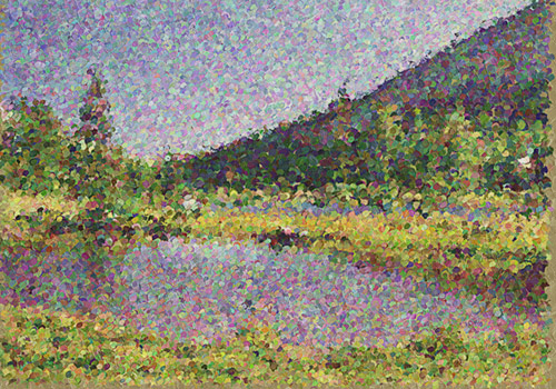 example of Claude Monet effect for footage