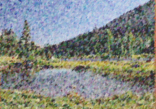 example of impressionist painting effect for footage