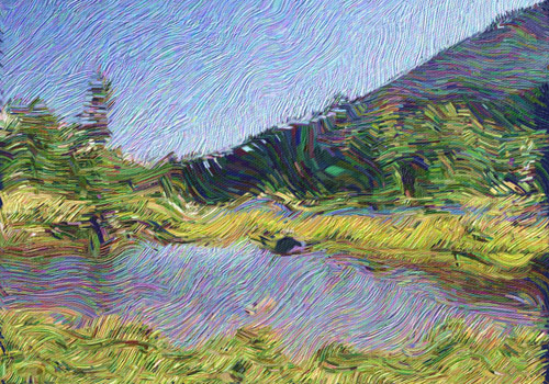example of Van Gogh painting effect for footage