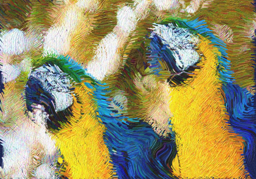 example of Van Gogh effect for After Effects