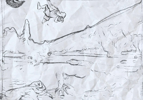 example of pencil doodle animation effect for footage