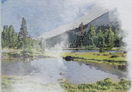 example of watercolor painting effect for video