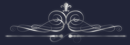 Curly vintage flourish design made in After Effects