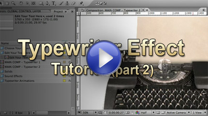 Click to watch the Typewriter Effect After Effects tutorial