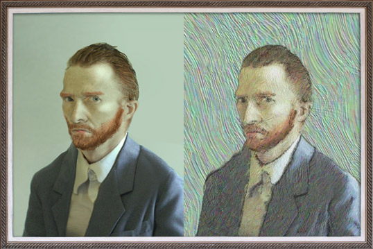 Image converted to a Van Gogh Painting in After Effects