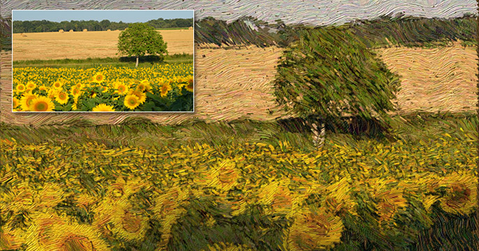 Field with Van Gogh Effect made in After Effects