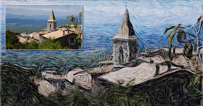 Church with Van Gogh Effect for After Effects